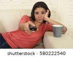 young beautiful hispanic woman...   Shutterstock . vector #580222540