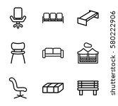 comfortable vector icons. set... | Shutterstock .eps vector #580222906