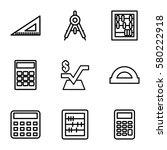 mathematics vector icons. set... | Shutterstock .eps vector #580222918