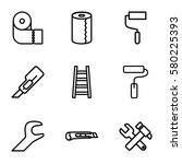 utility vector icons. set of 9... | Shutterstock .eps vector #580225393