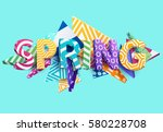 spring   bright colored... | Shutterstock .eps vector #580228708