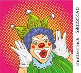 Smiling Clown Cartoon Characte...