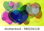 valentine art icon | Shutterstock .eps vector #580236118