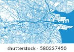 vector city map of dublin ...   Shutterstock .eps vector #580237450
