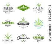 set of medical marijuana... | Shutterstock .eps vector #580239748