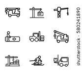 lift vector icons. set of 9... | Shutterstock .eps vector #580241890