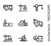 lift vector icons. set of 9...   Shutterstock .eps vector #580241890