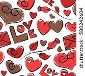 creative valentine style... | Shutterstock .eps vector #580242604