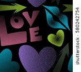 vector illustration. valentine... | Shutterstock .eps vector #580242754
