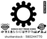 black cog pictograph with bonus ...   Shutterstock .eps vector #580244770