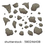 rocks and stones set collection | Shutterstock .eps vector #580246438
