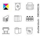 print shop and digital printing ... | Shutterstock .eps vector #580248136