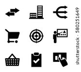 marketing vector icons. set of...
