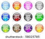 twenty percent   Shutterstock .eps vector #58025785