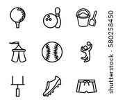 recreation vector icons. set of ...   Shutterstock .eps vector #580258450