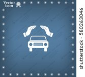 car insurance web icon. vector... | Shutterstock .eps vector #580263046