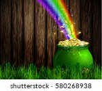 st. patrick s day symbol green... | Shutterstock .eps vector #580268938