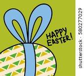 easter bunny ribbon ears... | Shutterstock .eps vector #580277029
