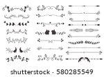 vector dividers calligraphic... | Shutterstock .eps vector #580285549