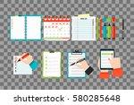 agenda list concept vector... | Shutterstock .eps vector #580285648