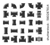 pipes  fittings and valves icon ... | Shutterstock .eps vector #580287814