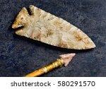 american bird point arrowhead... | Shutterstock . vector #580291570