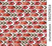 seamless pattern of elements ... | Shutterstock . vector #580292818