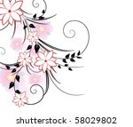 floral background | Shutterstock .eps vector #58029802