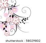 floral background | Shutterstock .eps vector #58029802