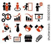 business plan icon set | Shutterstock .eps vector #580305358