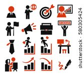 business icon set | Shutterstock .eps vector #580305424