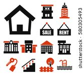 buying home icon set | Shutterstock .eps vector #580305493