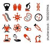biohazard  toxic icon set | Shutterstock .eps vector #580305946