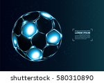 abstract vector background.... | Shutterstock .eps vector #580310890