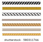 set of rope vector  can be use... | Shutterstock .eps vector #580311766