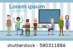 business people working... | Shutterstock .eps vector #580311886