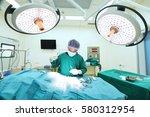 veterinarian surgery in... | Shutterstock . vector #580312954
