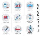 treatment hospital doctors...   Shutterstock .eps vector #580315309