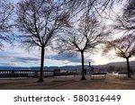 winter park outdoor in zurich ... | Shutterstock . vector #580316449