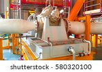the centrifugal pump install on ... | Shutterstock . vector #580320100