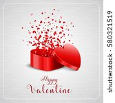 happy valentine's day card and... | Shutterstock . vector #580321519