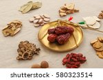 chinese herbal medicine and... | Shutterstock . vector #580323514