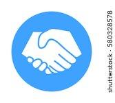 symbol of handshake in circle....   Shutterstock .eps vector #580328578