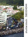 roseau  dominica   circa 2008 ... | Shutterstock . vector #580334044