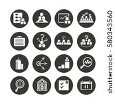 business management icon set in ... | Shutterstock .eps vector #580343560