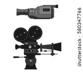 video camera vector... | Shutterstock .eps vector #580347766