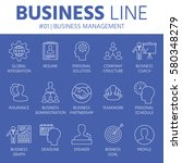 thin line icons set of business ...   Shutterstock .eps vector #580348279
