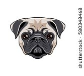 Pug Dog Face   Vector...