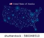 usa map | Shutterstock .eps vector #580348513