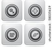 miscellaneous platinum icons | Shutterstock .eps vector #58035619